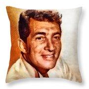 Dean Martin, Hollywood Legend By John Springfield Throw Pillow
