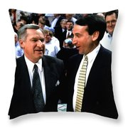 Dean Smith And Mike Krzyzewski Throw Pillow