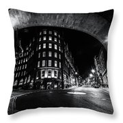 Dean Street And The Side Fn0058 Throw Pillow