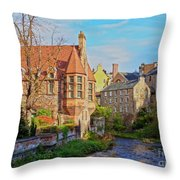 Dean Village, Edinburgh, Scotland Throw Pillow