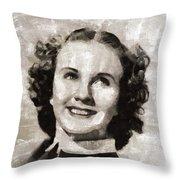 Deanna Durbin, Actress Throw Pillow