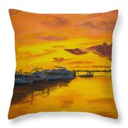 Deans Sunset Throw Pillow