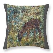 Dear Or Deer Being Hunted Throw Pillow