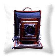 Deardorff 8x10 View Camera Throw Pillow by Joseph Mosley