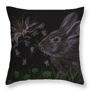 Dearest Bunny Eat The Clover And Let The Garden Be Throw Pillow