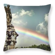 Death And A Rainbow Throw Pillow