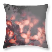 Death Blooms Throw Pillow