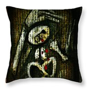 Death By A Thousand Tears Throw Pillow