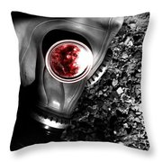 Death In Battle Throw Pillow