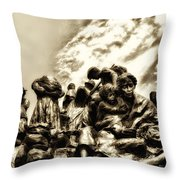 Death In The Time Of The Irish Famine Throw Pillow
