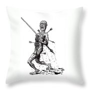 Death March Throw Pillow by Tobey Anderson