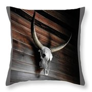 Death Of A Longhorn Throw Pillow