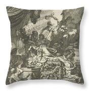 Death Of Dido, Gerard De Lairesse, 1668 Throw Pillow
