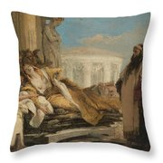Death Of Dido Throw Pillow