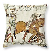 Death Of Harold, Bayeux Tapestry Throw Pillow