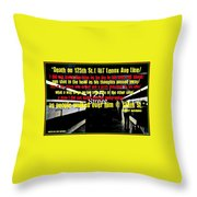Death On 125th St. Irt Lenox Ave Line Throw Pillow