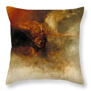 Death On A Pale Horse Throw Pillow