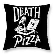 Death Pizza Throw Pillow