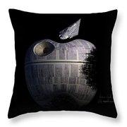 Death Star Apple Throw Pillow