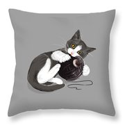 Death Star Kitty Throw Pillow
