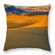 Death Valley Golden Hour Throw Pillow