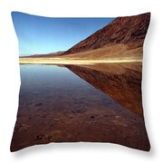 Death Valley Lake Throw Pillow