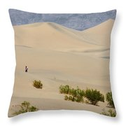 Death Valley Sand Dunes Throw Pillow
