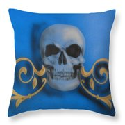 Death With A Flourish Throw Pillow