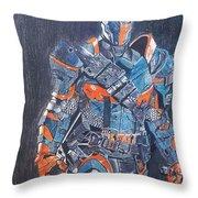 Deathstroke Illustration Art Throw Pillow