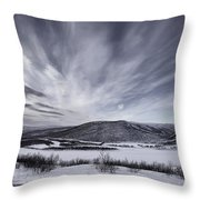 Deatnu Valley Scenery Throw Pillow