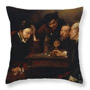 Debate Throw Pillow