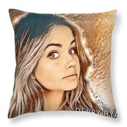 Debby Ryan Golden Beauty Throw Pillow