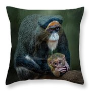 Debrazza's Monkey And Baby Throw Pillow