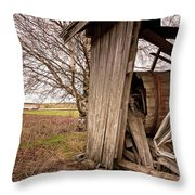 Debris In An Old Barn Throw Pillow