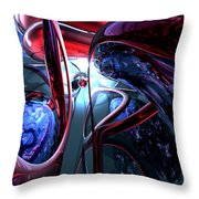 Decadence Abstract Throw Pillow