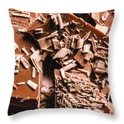 Decadent Chocolate Background Texture Throw Pillow