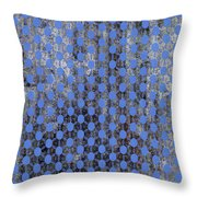 Decadent Urban Blue Patterned Abstract Design Throw Pillow