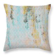 Decadent Urban Light Colored Patterned Abstract Design Throw Pillow