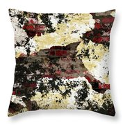 Decadent Urban Red Bricks Painted Grunge Abstract Throw Pillow