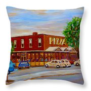 Decarie  Tasty  Food  Pizza Throw Pillow
