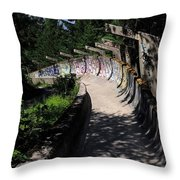 Decayed Bobsled Throw Pillow