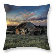Decaying Cottage Throw Pillow