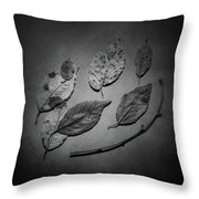 Decaying Leaves Throw Pillow