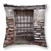 Decaying Wall And Window Antigua Guatemala 2 Throw Pillow