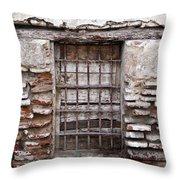 Decaying Wall And Window Antigua Guatemala 3 Throw Pillow