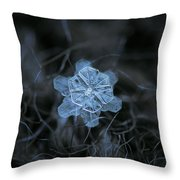 December 18 2015 - Snowflake 2 Throw Pillow by Alexey Kljatov