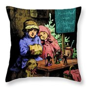 A Warm Moment On A Cold December Day Throw Pillow