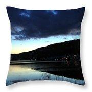 December Evening Throw Pillow