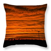 December Nebraska Sunset 002 Throw Pillow