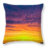 December Nebraska Sunset 003 Throw Pillow